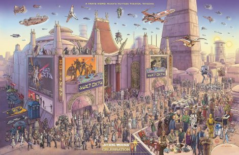 Star Wars Celebration VI Poster by Jeff Carlisle