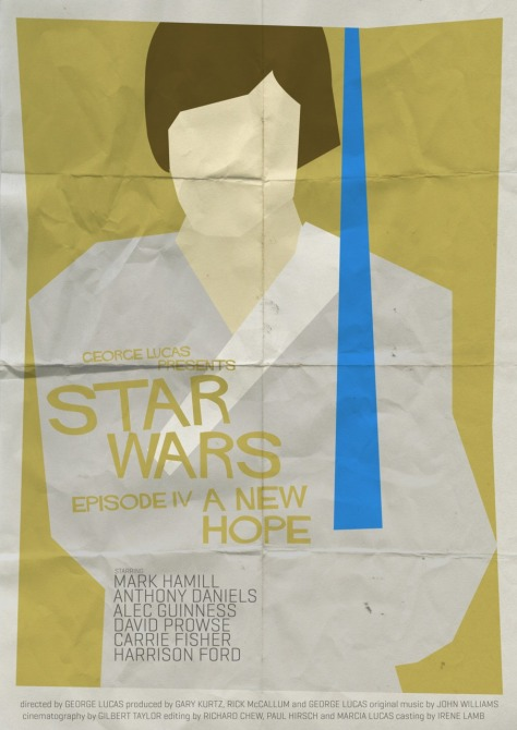 Star Wars Saul Bass Style A New Hope MilnersBlog