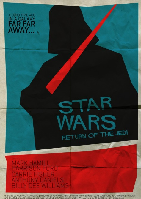 Star Wars Saul Bass Style Return of the Jedi 2 MilnersBlog