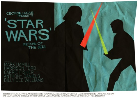 Star Wars Saul Bass Style Return of the Jedi MilnersBlog