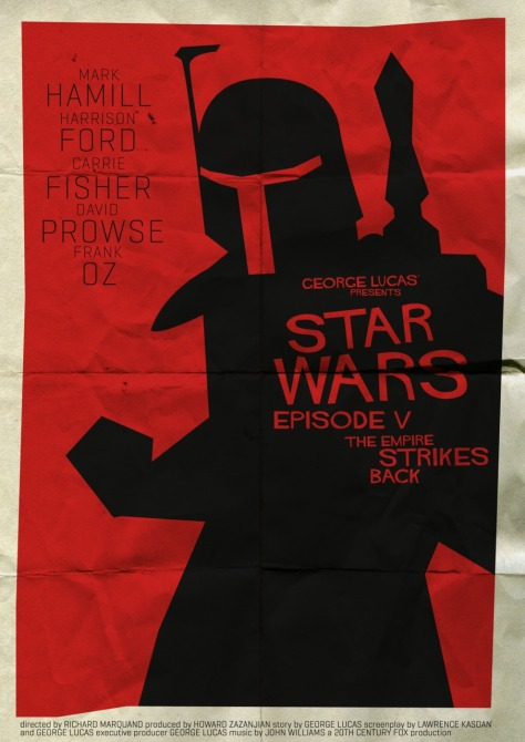 Star Wars Saul Bass Style The Empire Strikes Back MilnersBlog