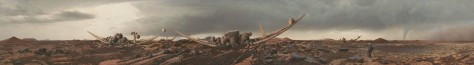 Mars Art Adrift on the Hourglass Sea Panorama