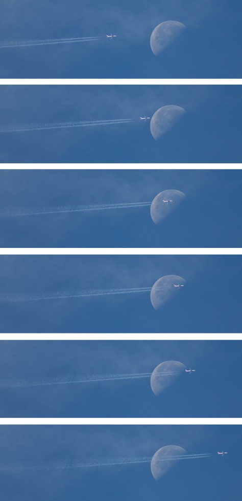 Moon and a Jet Sequence