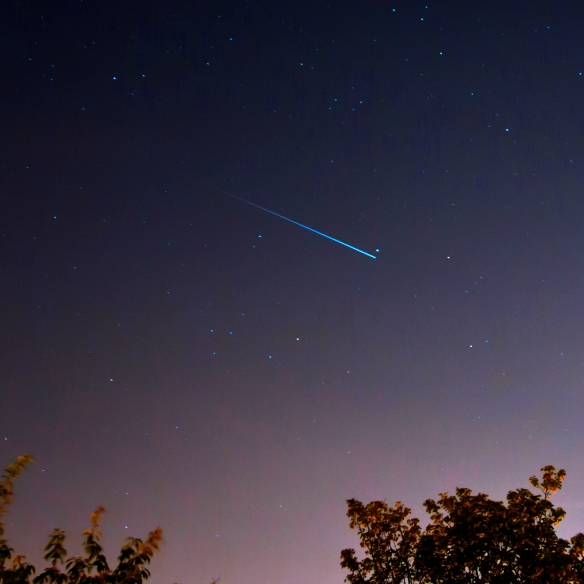 The Iridium Flare over Leeds
