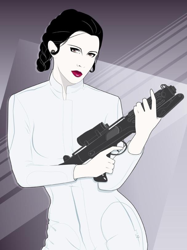 Craig Drake Mondo Star Wars Princess Leia Poster