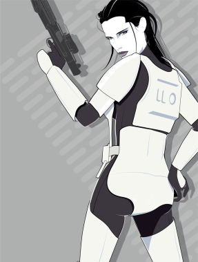Star Wars Retro Female Stormtrooper