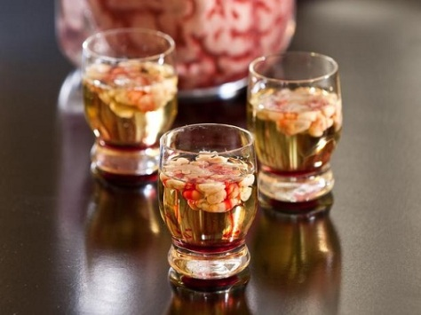 Halloween Drinks Blood Brain Vodka Shooters 01