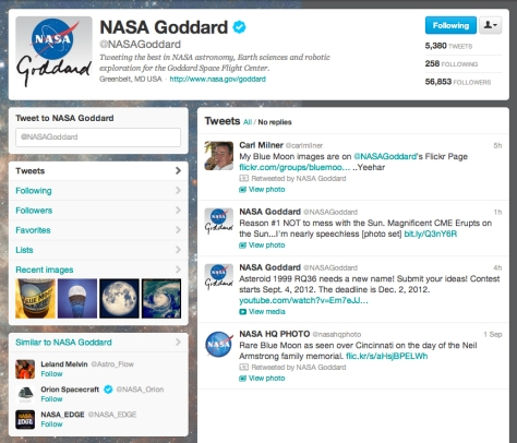 Honoured by NASA