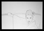 O-Ren Ishii Pencil Sketch by Craig Drake