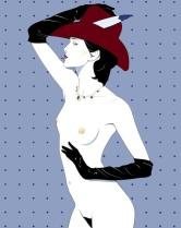 Patrick Nagel Sexy Woman