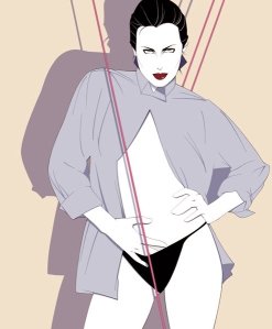 Patrick Nagel Sexy Woman Artwork