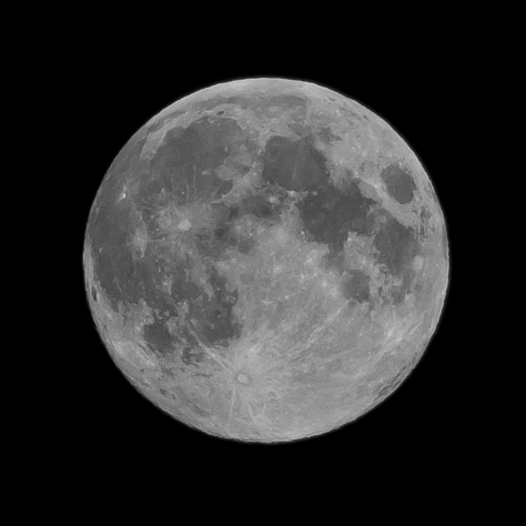The Harvest Moon over the UK 29th September 2012