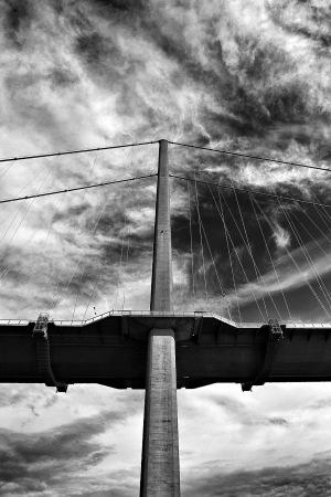 Single-Span Suspension Bridge,