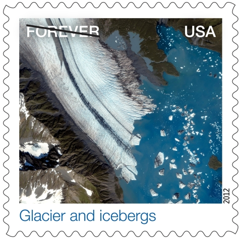 Nasa Earthscape Glaciers & Icebergs Stamp