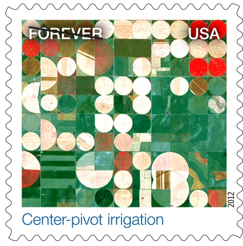 Nasa Earthscapes Center Pivot Irrigation Stamp