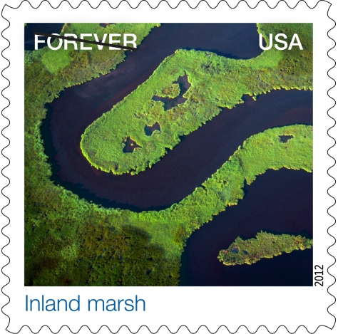 NASA  Earthscapes Inland Marsh Stamp