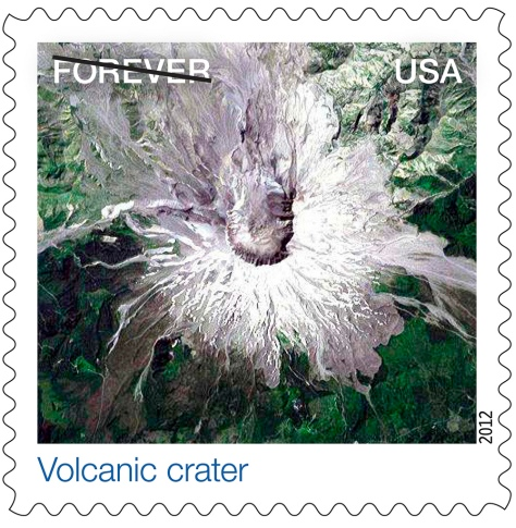 Nasa Earthscapes Volcanic Crater Stamp