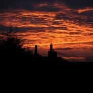 Silhouette over MilnersBlogs Garden \ Oct 2012