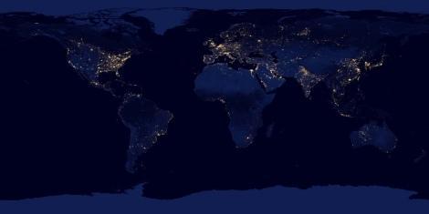 City Lights Flat Map