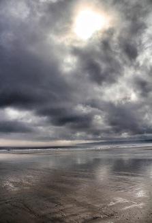 Beach Storm Reflections