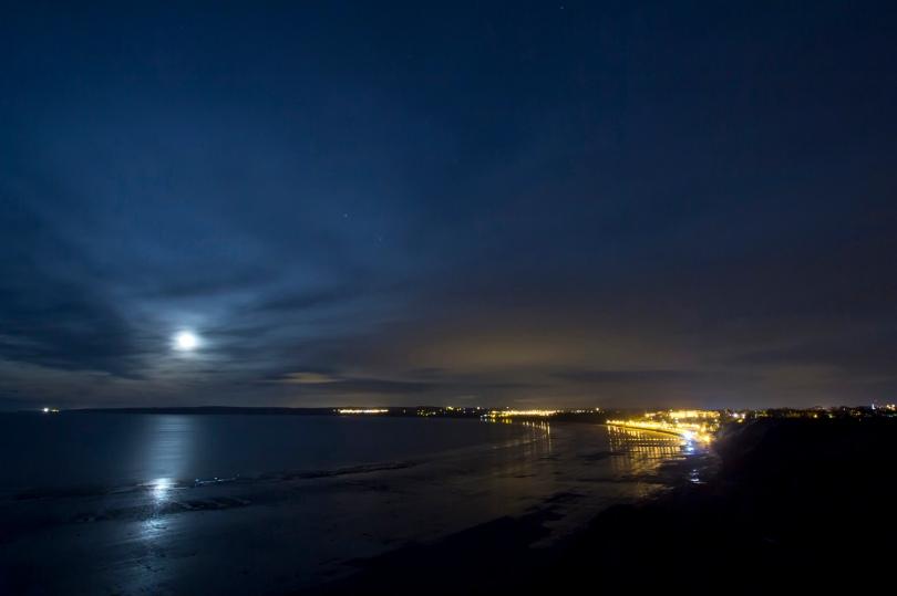 Filey Bay at Night