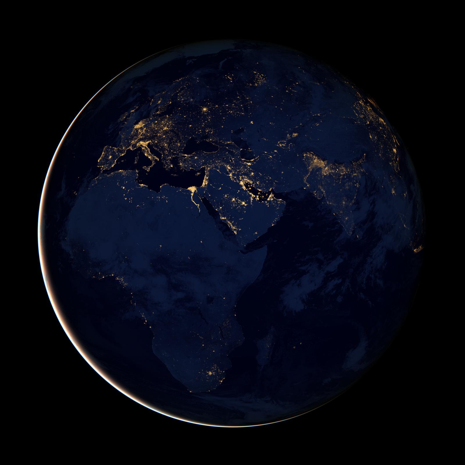 nasa night lights - HD1024×1024