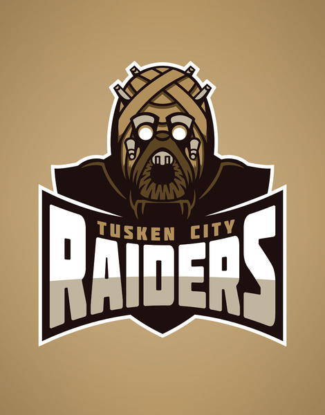 STAR WARS Sports Team Logos  Tusken City Raiders