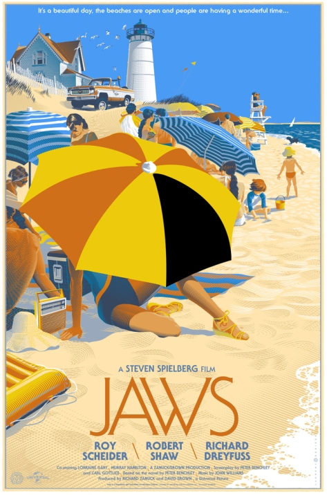 Jaws Mondo Poster © Laurent Durieux 2013