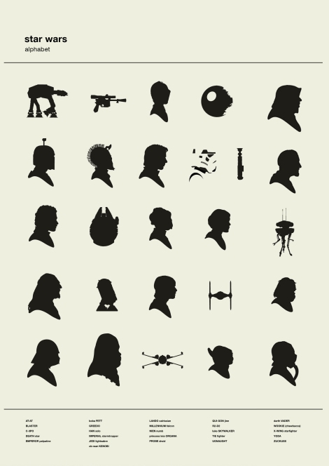 Star Wars Silhouette Alphabet