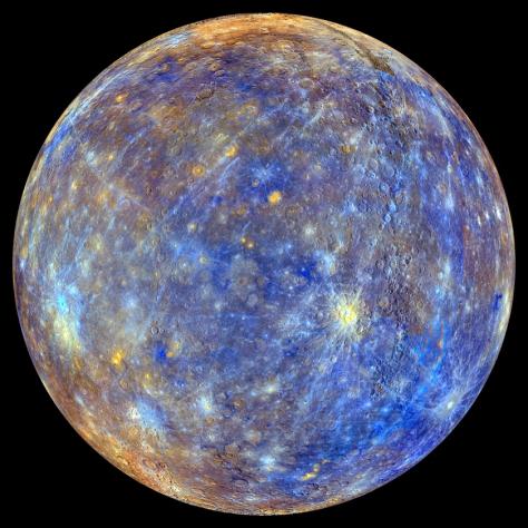 False Colour Mercury Globe by Messenger
