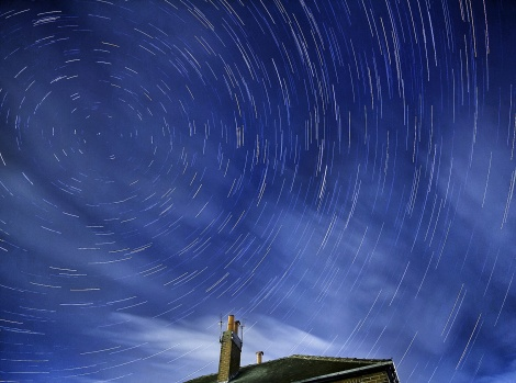 Star Trails over My House :)