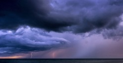 Lighting Storm at Sea