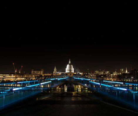 Millennium Bridge, St Pauls Cathedral and Ursa Major