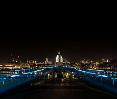 Millennium Bridge, St Pauls Cathedral and Ursa Major