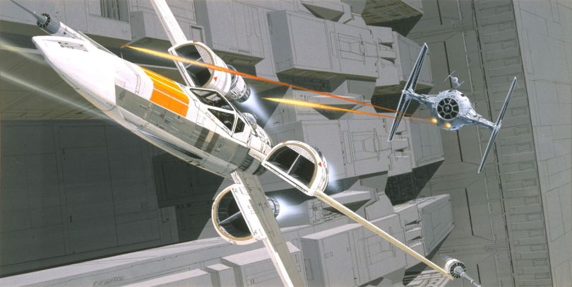 New Star Wars X-Wing Concept by Ralph McQuarrie