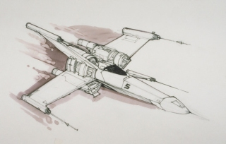 Star Wars VII Joe Johnston X-Wing Concepts