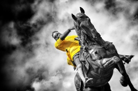 The Black Prince dressed in Yellow
