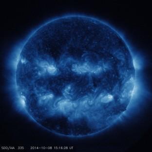 Taken in 335 Angstrom Extreme Ultraviolet Light.