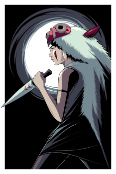 Princess Mononoke by Craig Drake ©2014