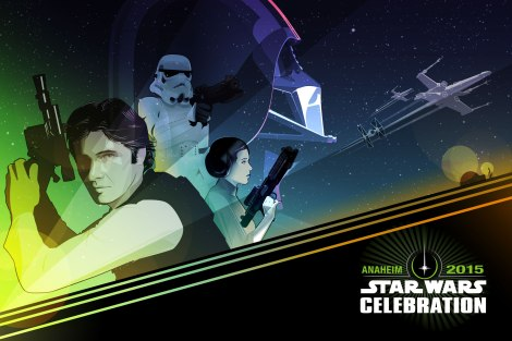 Star Wars Celebration Anaheim Poster Artwork by Craig Drake ©2014