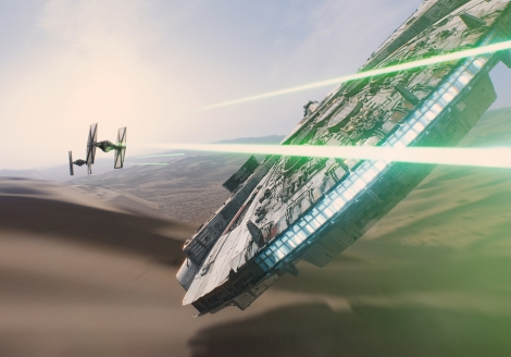 Star Wars Episode VII The Force Awakens MilnersBlog Tie Fighters attacks the Falcon on Tatooine 01