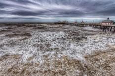 Stormy Weather on Blackpool Beach