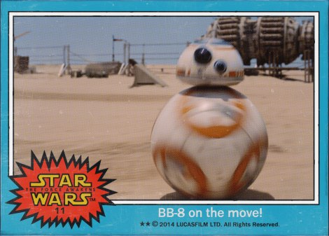 BB-8 on the move Star Wars The Force Awakens Digital Trading Card No 11