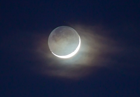 EarthShine Moon