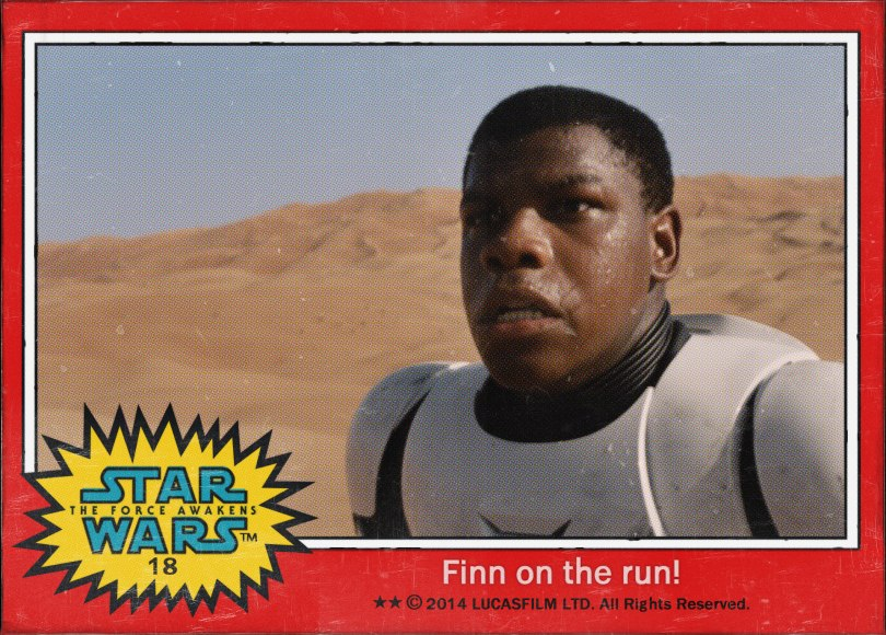 Fin on the run Star Wars The Force Awakens Digital Trading Card No 18