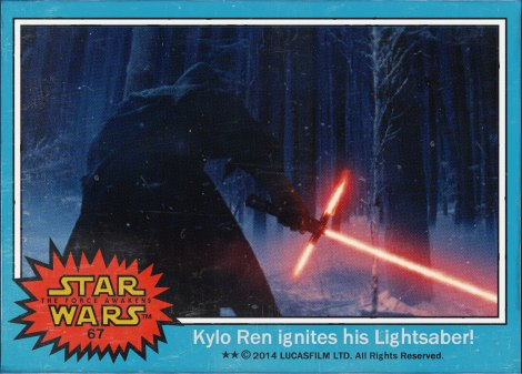 Kylo Ren ignites his Lightsabre Star Wars The Force Awakens Digital Trading Card No 67