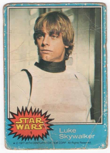 Luke Skywalker Star Wars Topps Trading Card No 1