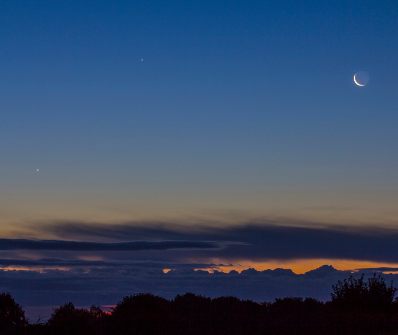Moon Venus & Jupiter Conjunction over Yorkshire | Milners Blog
