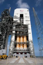 NASA Orion Flight Test EFT1 on the Launchpad Closeup