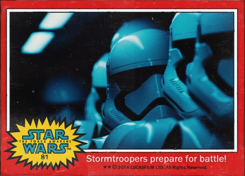Stormtroopers prepare for Battle Star Wars The Force Awakens Digital Trading Card No 81